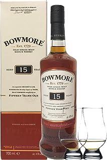 Bowmore 15 Jahre 0,7 Liter 2 Glencairn Gläser