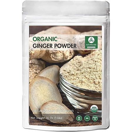 Naturevibe Botanicals Premium Organic Ginger Root Powder (1lb), Zingiber officinale Roscoe | Keto Friendly | Non-GMO and Gluten Free