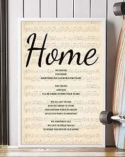 Home Song Lyrics Portrait Poster Print Mattata Decor (12