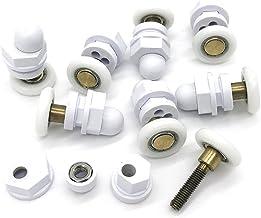 YuanQian DN vervangende looprol voor douchecabinedeuren, eengoed, roller, wiel, 19 mm diameter, 8 stuks