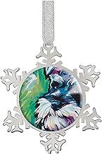 "FQJNS Fashion Image Snowflake Ornaments Silver 2.9""X2.6""X0.3""inches Home Decoration Christmas Tree Hanging Ornaments (Mini..."
