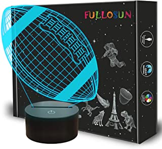 FULLOSUN Football 3D Night Light, Rugby Light 3D Illusion Lamp for Kids with 7 Colors Changing, Creative Birthday American Football Gifts for Boys Decoration for Kids Bedroom