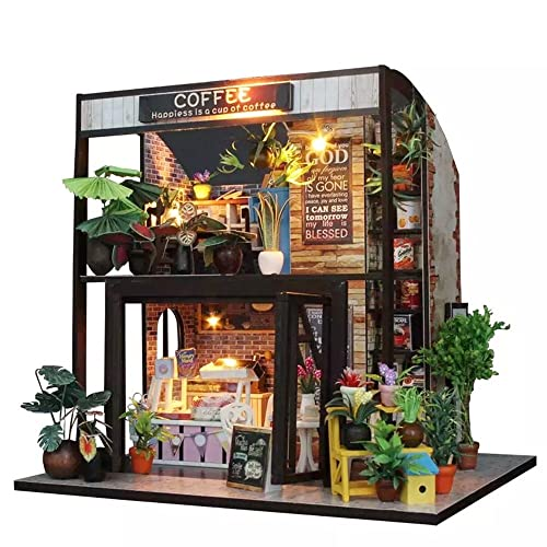 Flever Dollhouse Miniature DIY House Kit Creative Room With Furniture For Romantic Valentines GiftTime
