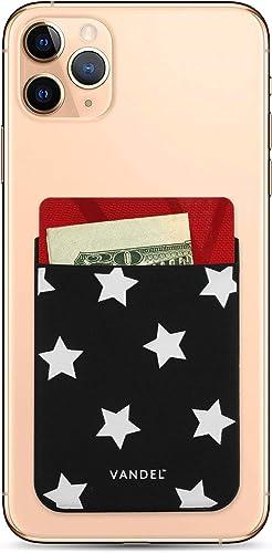 Vandel Pocket – Designer Stick-On Fabric Phone Wallet for Women, Cute Credit Card Holder for Back of Phone and iPhone...