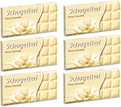 Schogetten German White Chocolate, 100g/3.5oz (Pack of 6)