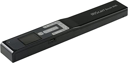 IRIS IRIScan Book 5 WIFI - Escáner portátil libros y revistas, batería, 1200 ppp, WIFI, USB, Pantalla a color, JPG/PDF/PDF convierte texto a voz, Negro
