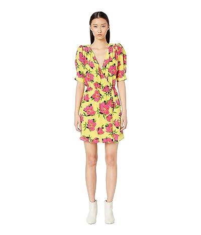 The Kooples Peony Printed In Love Dress (Yellow) Women