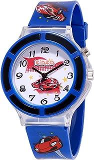 Kidzo Race Car Blue Boys Analog Wrist Watch with 7 Color Lights