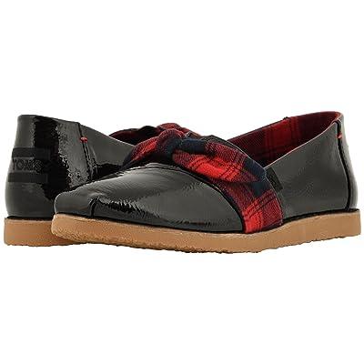 TOMS Alpargata (Black Synthetic Leather (Vegan)) Women