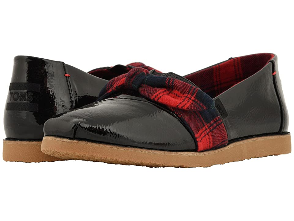 TOMS Alpargata (Black Synthetic Leather (Vegan)) Women