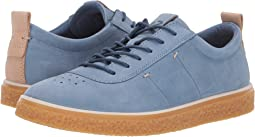 Retro Blue Nubuck Leather
