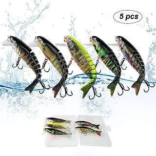 FORENA Fishing Lures Set - 4.1inch Eight Segment Multi...