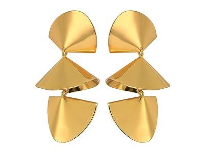 J.Crew Winged Dangle Statement Earrings (Burnished Gold) Earring