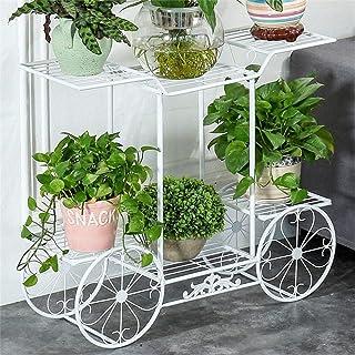 HTTSC Flower Rack Plant Stands European-Style Iron Art Flower Racks Multi-Functional Shelf Indoor and Outdoor Metal Plant ...