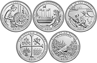 2019 P, D BU National Park Quarter 10 Coin Set Uncirculated