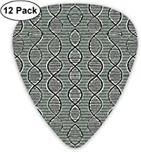 WeaiDanu Double Helix DNA Classic Guitar Picks (12 Pack) for Electric Guitar, Acoustic Guitar, Mandolin, and Bass