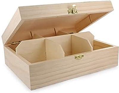 La Fourmi - 205 x 160 x 75 mm Boîte pour Sachets de Thé avec 6 Compartiments