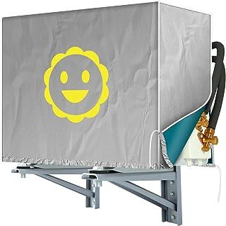 keello エアコン室外機カバー 日・雨・雪・風・ホコリよけ 劣化防止 シルバーコーティング 日傘の材質 撥水加工 2つサイズ選べる 簡単脱着 省エネ 節電 大型