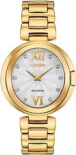 Citizen - Reloj Citizen Eco-Drive Capella Diamond EX1512-53A para mujer
