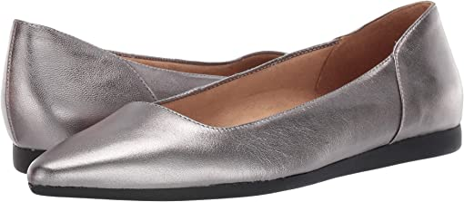 Pewter Metallic Leather
