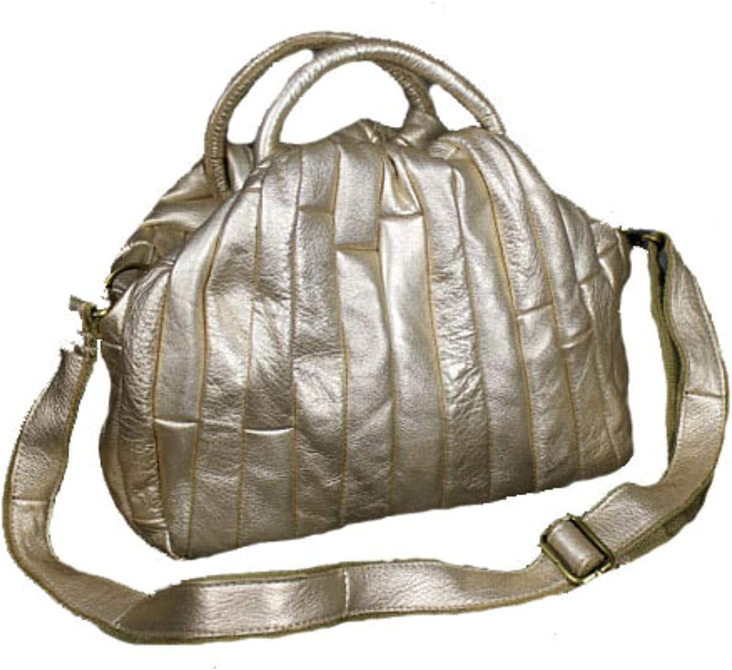 Hot New Women Leather Weave Ruched handbags