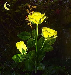 مصباح ليد ليد شمسي للحديقة من AB AttaBoy، أضواء زهور حديقة تعمل بالطاقة الشمسية، إضاءة ليد خارجية لكومة الحديقة والفناء ود...