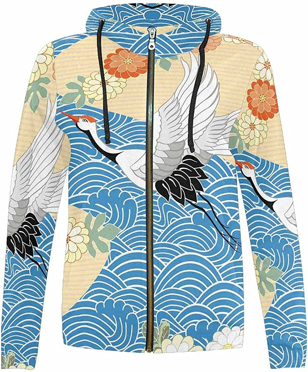 InterestPrint Very popular! Chicken and Rooster Ranking TOP8 Inthe Jack Hooded Grass Zip-Up