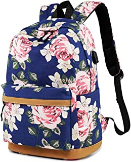 FLYMEI School Backpack for Girls, Casual Daypacks, Lightweight Travel Backpack for Women, Laptop Bag