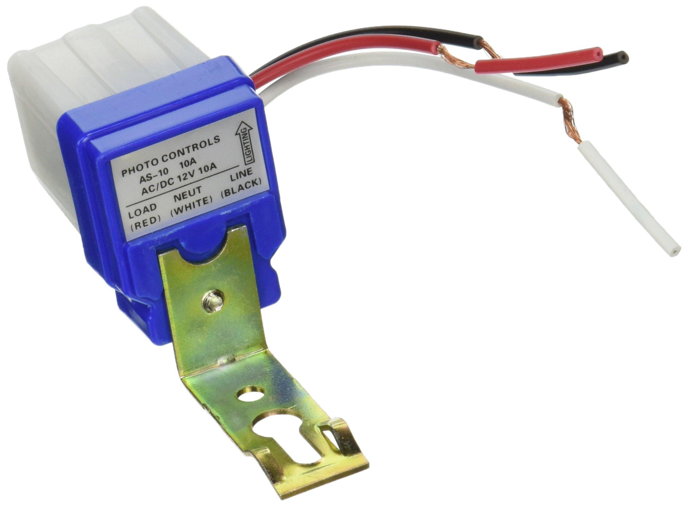 Amazon Com Highrock Ac Dc 12v 10a Auto On Off Photocell Light Switch Photoswitch Light Sensor Switch Automotive