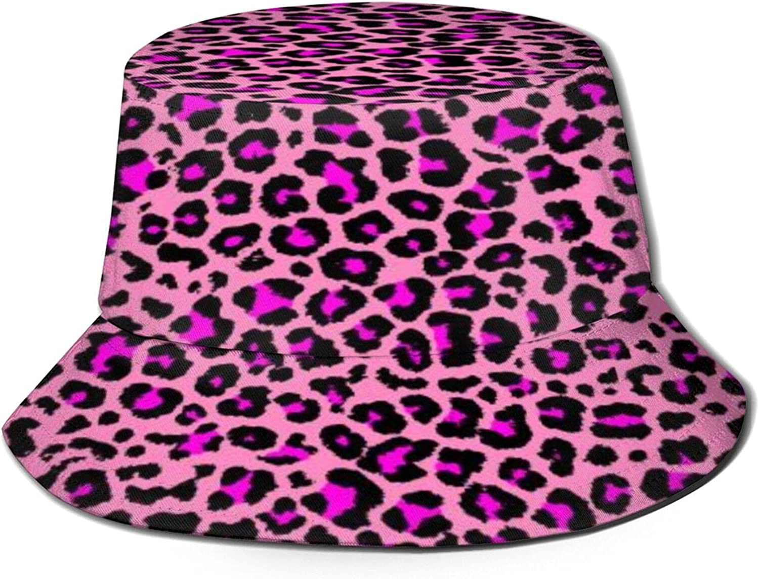 Pink Leopard Texture High quality Bucket Hat Packable Unisex Directly managed store Summer F Sun
