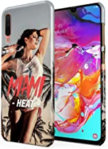 Heat in Miami Beach Wet Naked Sexy Naughty Model Girl Palm Trees Ocean Drive Plastic Phone Snap On Back Case Cover Shell Compatible with Samsung Galaxy A70