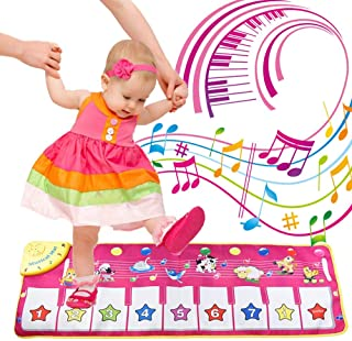 FUGZ Kids Musical Keyboard Electronic - Piano Mat - Music Carpet - Girls Boys Best Gifts Toys.