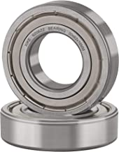 XiKe 2 Pcs 6206ZZ Double Metal Seal Bearings 30x62x16mm, Pre-Lubricated and Stable Performance and Cost Effective, Deep Groove Ball Bearings.
