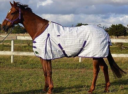 RUMANI 280gsm Summer Polycotton Ripstop New Check Check Paddock Horse Rug