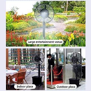 XFPINK Potentes bocinas de Hoja de Piso Ventilador eléctrico Pedestal de Metal Negro Refrigeración por Agua Fácil de Montar Cabezal sacudidor Columpio eléctrico Hogar Comercial 71 / 81cm