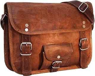 Gusti Handtasche Leder - Emilia 10 Umhängetasche Ledertasche Vintage Braun Leder