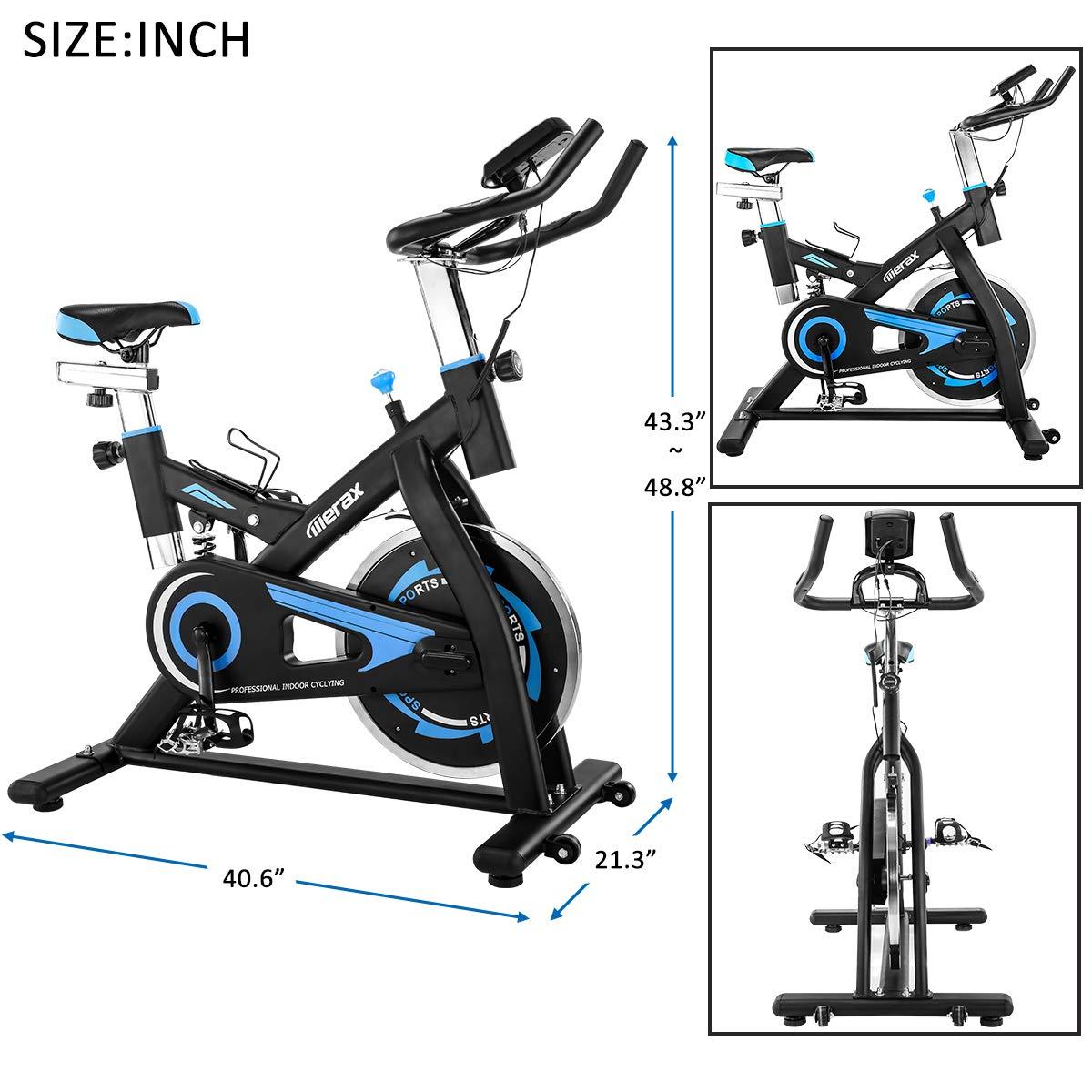 Bicicleta estática BHW para interiores con volante de inercia de ...