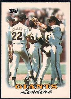 Baseball MLB 1988 Topps Tiffany #261 Will Clark/Jose Uribe/Candy Maldonado Giants