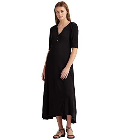 LAUREN Ralph Lauren Waffle Knit Fit-and-Flare Dress Women