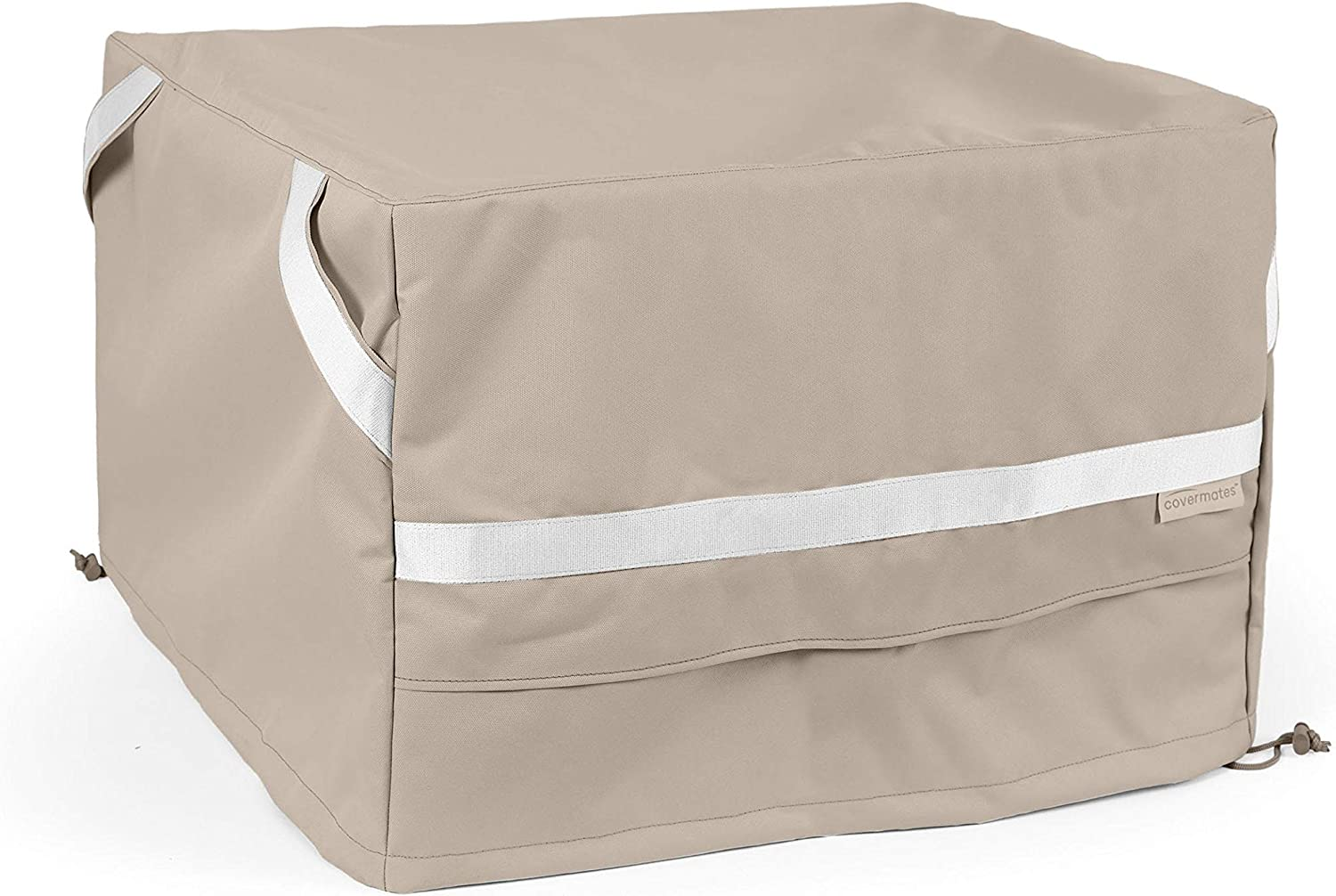 Covermates Long Popular products Beach Mall Square Ottoman Cover - Polyester Res Premium Weather