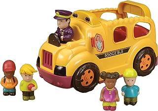 B. Toys – Boogie Bus Rrrroll Models – Interactive Yellow School Bus Toy – Lights & Sounds – 6Piece