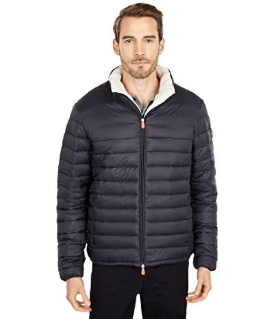 Save the Duck Giga Sherpa Lined Puffer Jacket (Black) Men