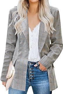 Women's Casual Long Sleeve Lapel Button Slim Work Office Blazer Jacket