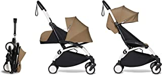 Babyzen YOYO2 Stroller & Newborn Set - White Frame with Toffee Farics