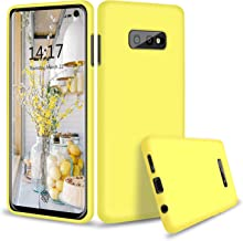 Abitku Galaxy S10 Lite Case Silicone, Slim Liquid Silicone Gel Rubber Shockproof Case Soft Microfiber Cloth Lining Cushion Compatible with Samsung Galaxy S10e 5.8 inch 2019 (Yellow)