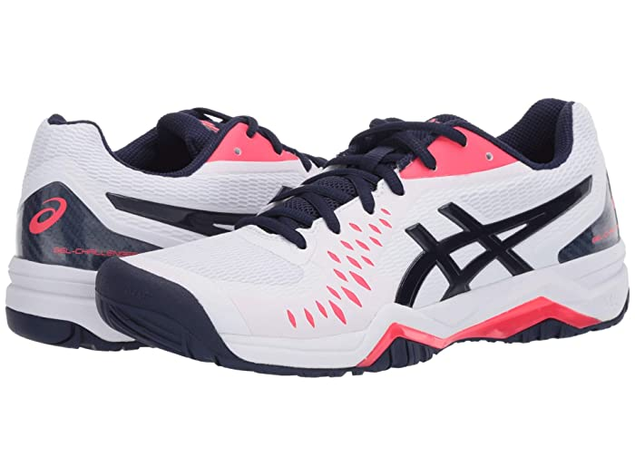 ASICS  Gel-Challenger 12 (White/Peacoat) Womens Tennis Shoes