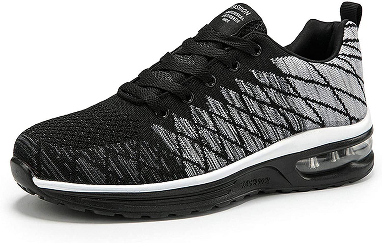 AIRAVATA Zapatillas de correr para hombre y mujer, con cojín de aire, ligeras, transpirables, para caminar, gimnasio, correr, fitness, atletismo