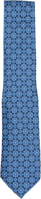 Stefano Ricci Men's Blue Luxury Collection Italian Silk Octagon Necktie - One Size