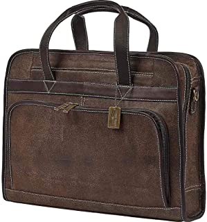 Claire Chase Professional Computer Briefcase Distressed Brown