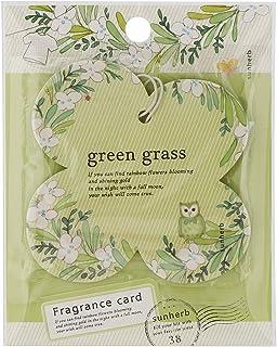 サンハーブ フレグランスカード グリーングラス(芳香剤 エアフレッシュナー 爽やかでちょっと大人の香り)